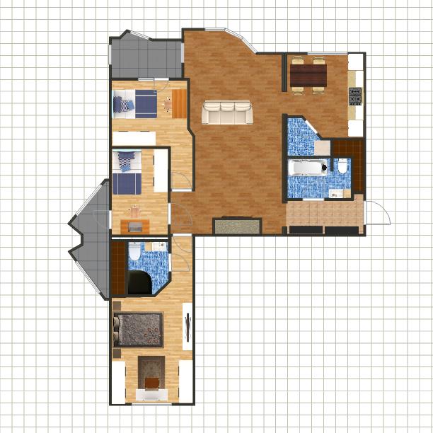 Перепланировка 3х комнатной